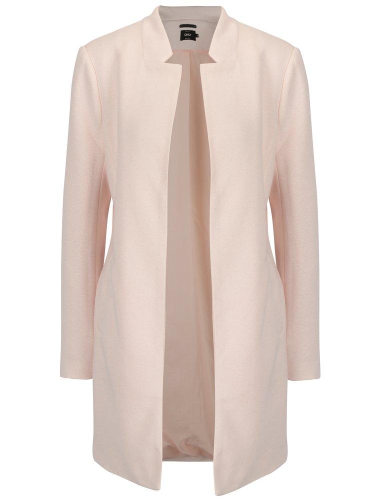 Světle růžový kabát ONLY Soho