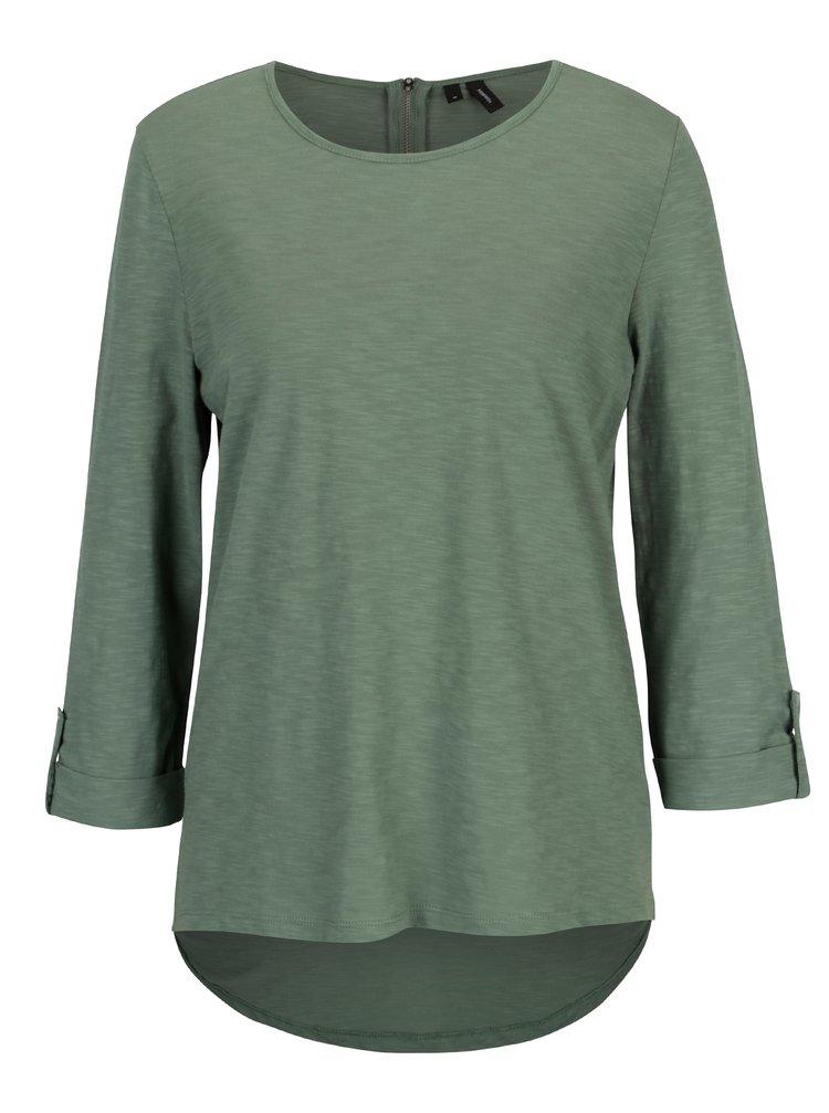 Bluza verde cu maneci 3/4 VERO MODA Malka