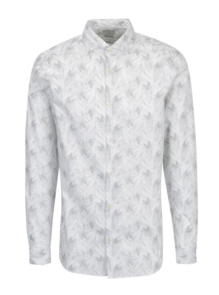 Biela vzorovaná regular fit košeľa Selected Homme Two Sel