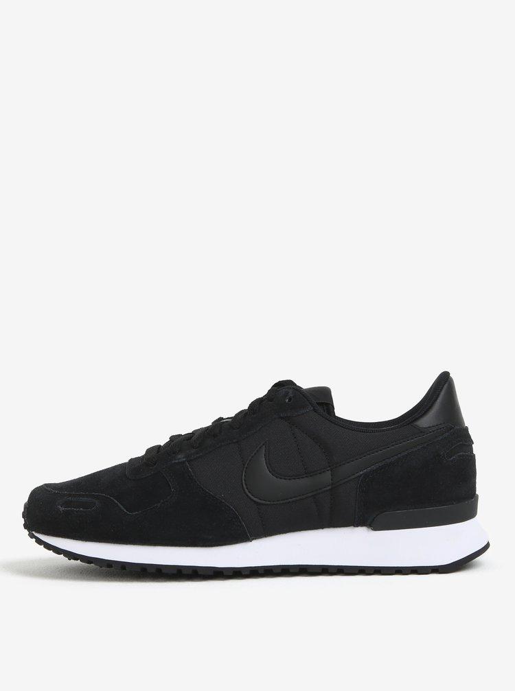 Pantofi sport negri cu detalii din piele intoarsa pentru barbati - Nike Air Vortex