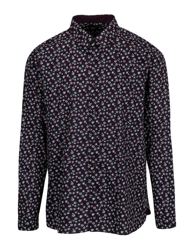 Camasa cu print floral multicolor Burton Menswear London