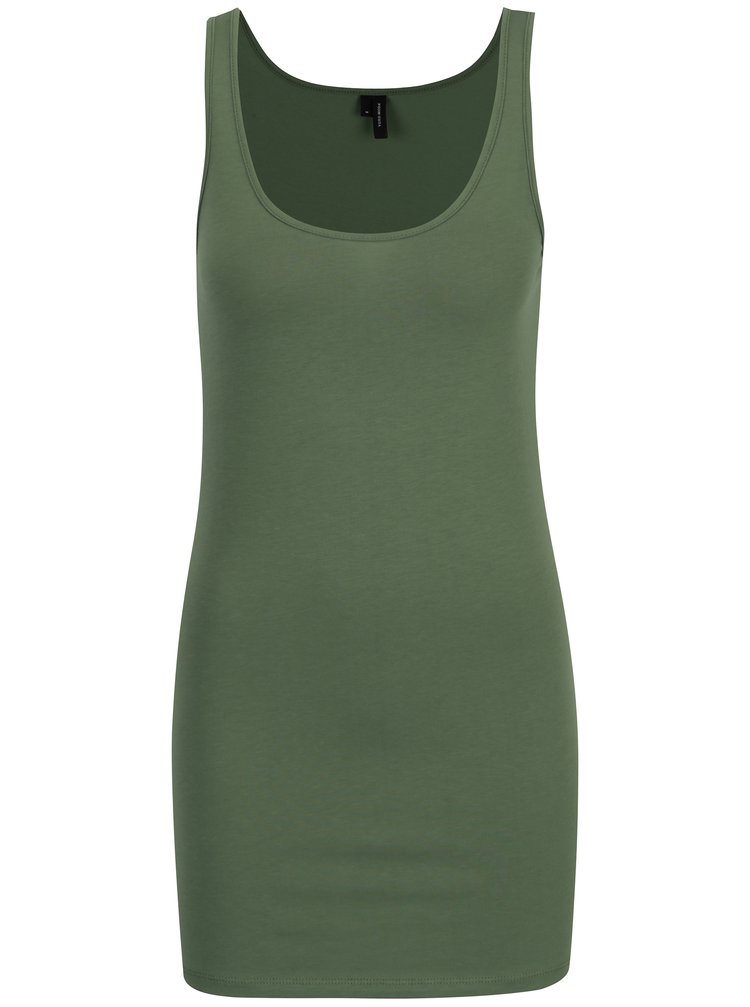 Top basic verde inchis lung VERO MODA Maxi