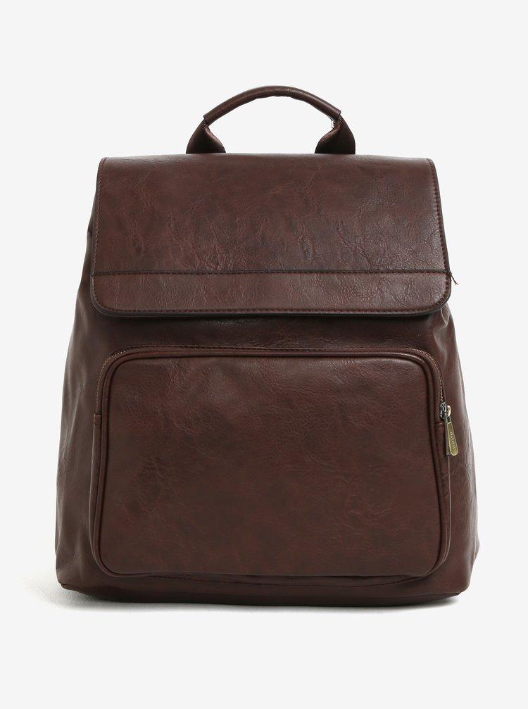 Tmavě hnědý batoh s klopou Bobby Black