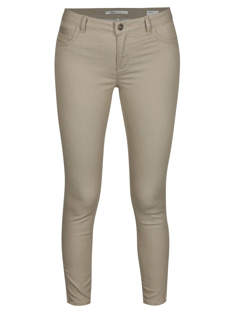 Béžové skinny džíny ONLY Kendell