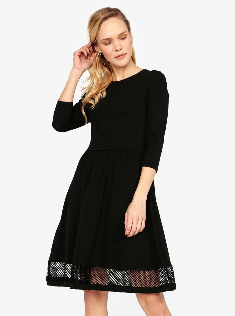 Černé šaty se síťovanými detaily ONLY Xena