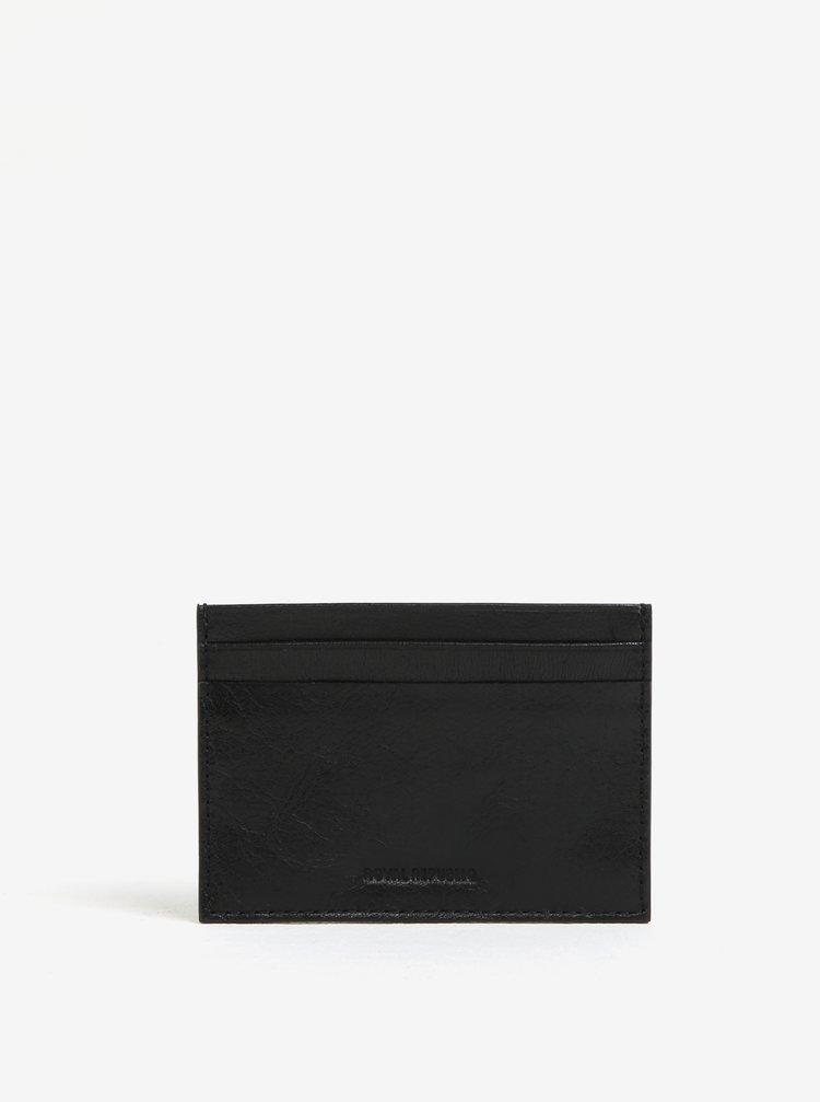 Portcard negru din piele - Royal RepubliQ Alliance