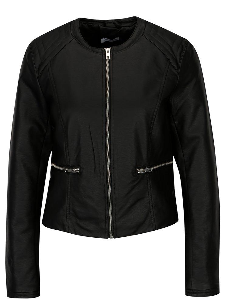 Černá koženková bunda Jacqueline de Yong Dream
