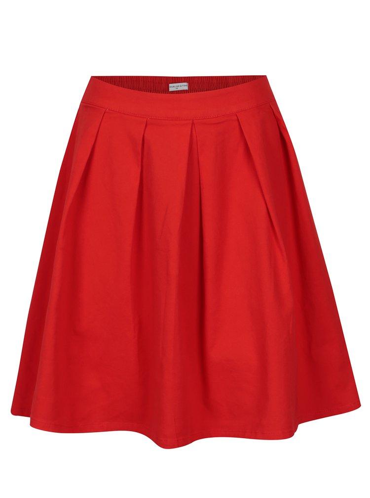 Červená skládaná sukně Jacqueline de Yong Power