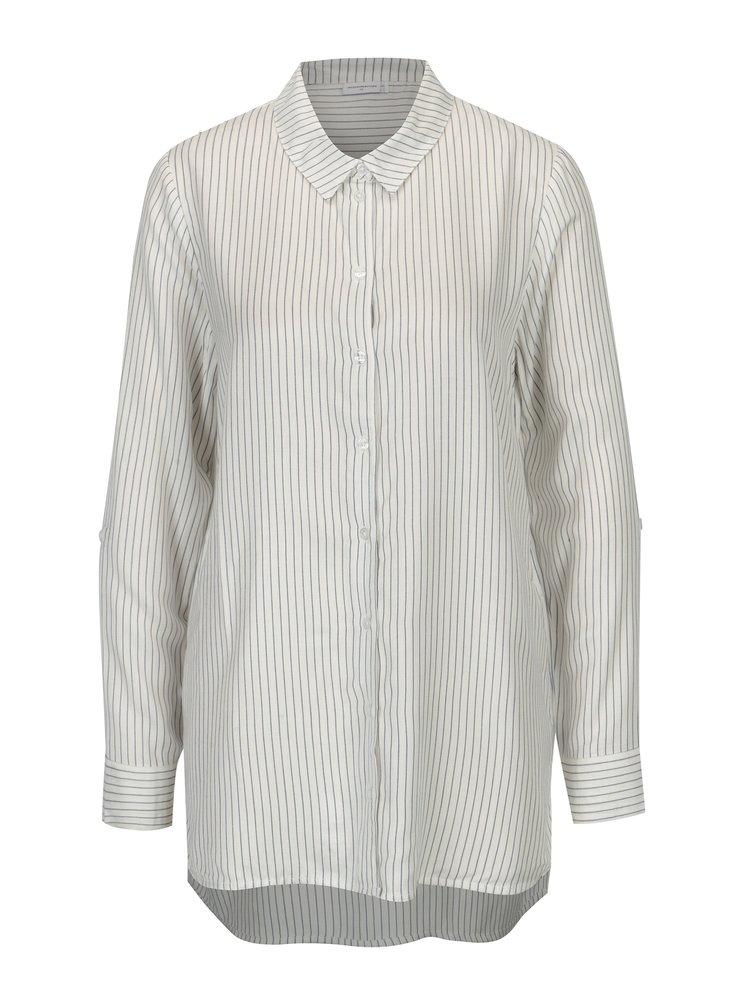 Krémová pruhovaná dlouhá košile Jacqueline de Yong Togo