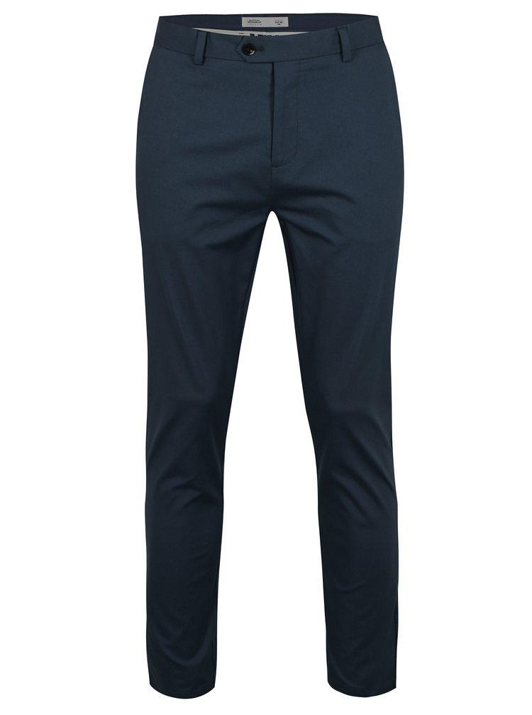 Modré slim fit kalhoty Burton Menswear London