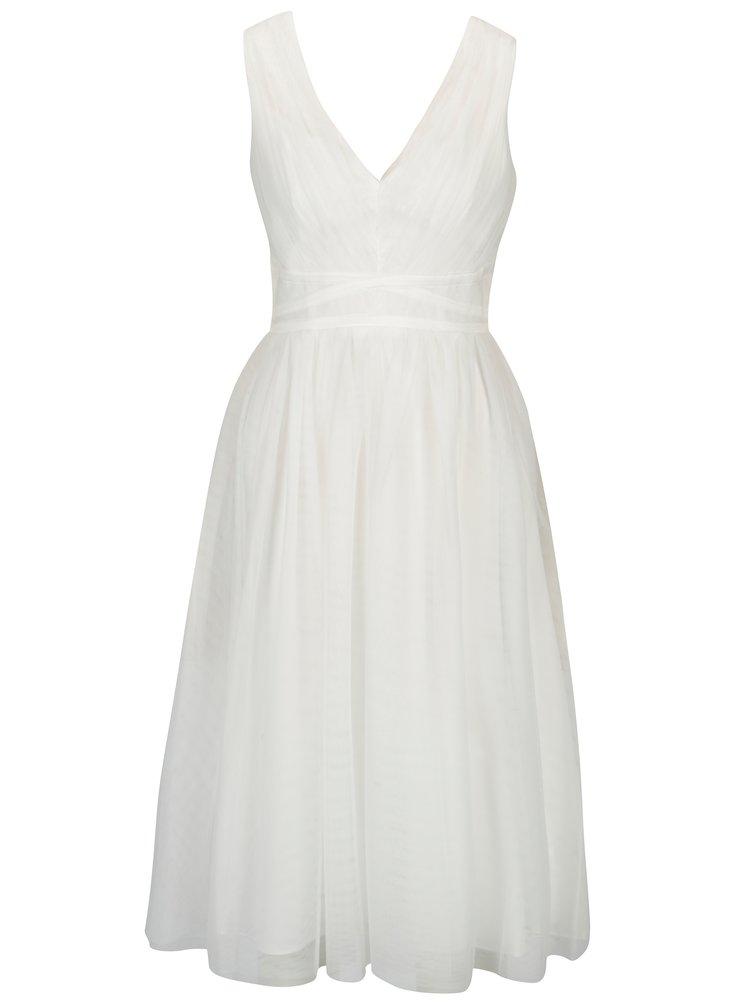 Krémové tylové šaty bez rukávu Showcase by Dorothy Perkins