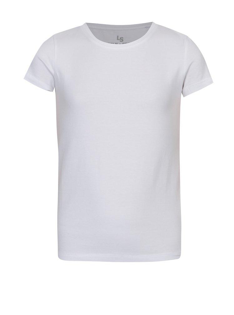 Bílé holčičí basic tričko 5.10.15.