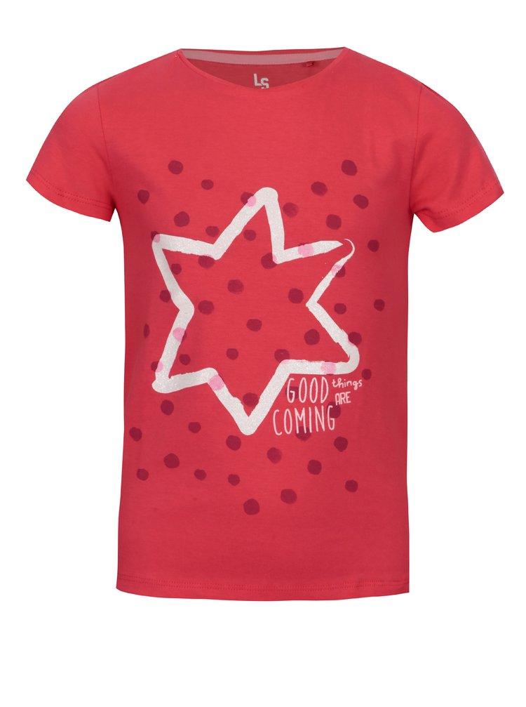 Růžové holčičí tričko s potiskem 5.10.15.
