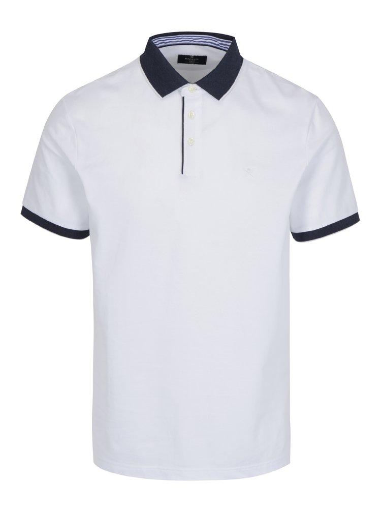 Bílé polo tričko Hackett London Seersucker