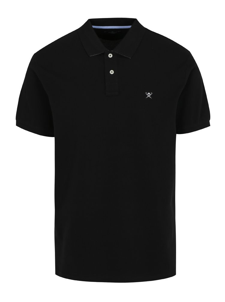 Černé basic polo tričko s logem Hackett London Classic