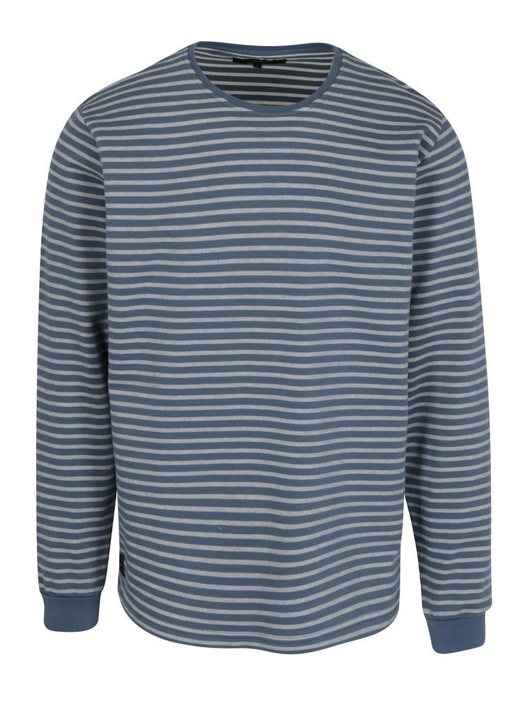 Modro-biele pánske pruhované tričko Makia Yacht