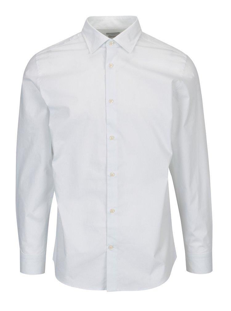 Bílá vzorovaná slim fit košile Selected Homme One Pen
