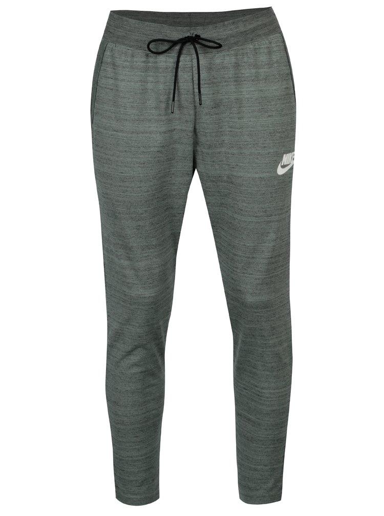 Pantaloni sport gri deschis melanj standard fit pentru barbati Nike