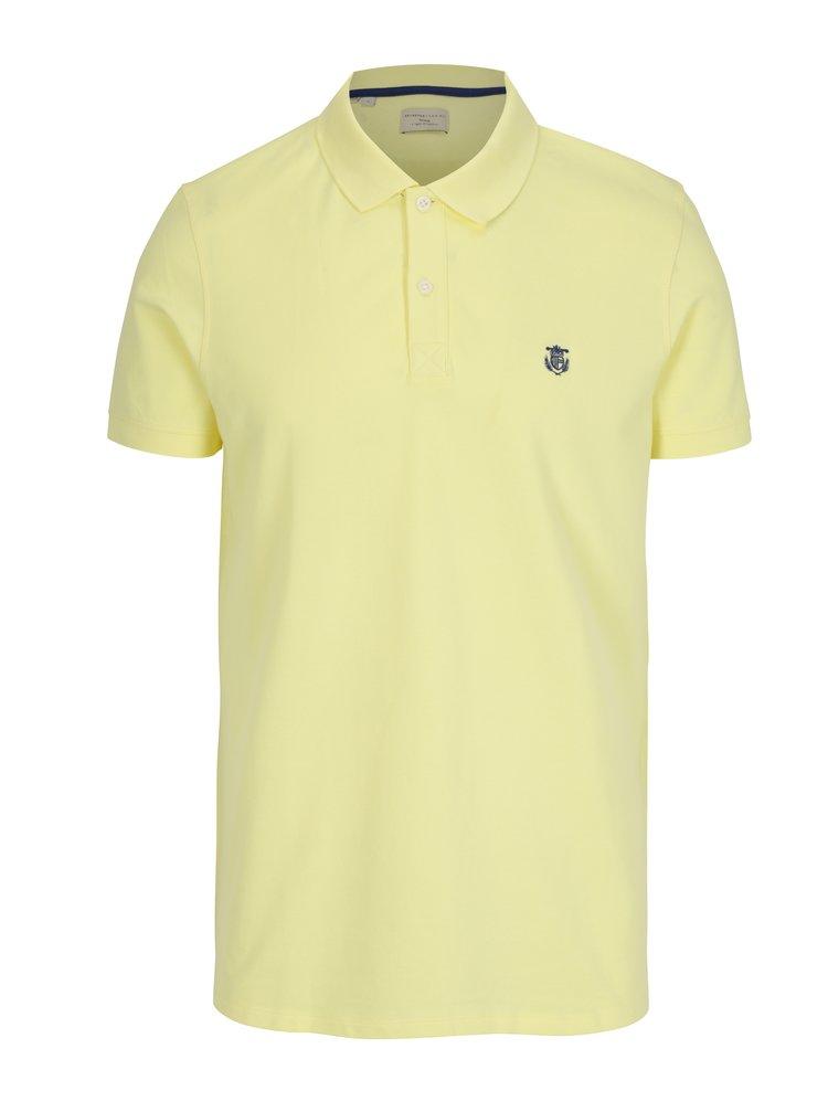 Žluté polo tričko Selected Homme Haro