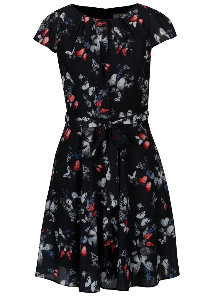 Tmavě modré vzorované šaty Billie & Blossom Petite