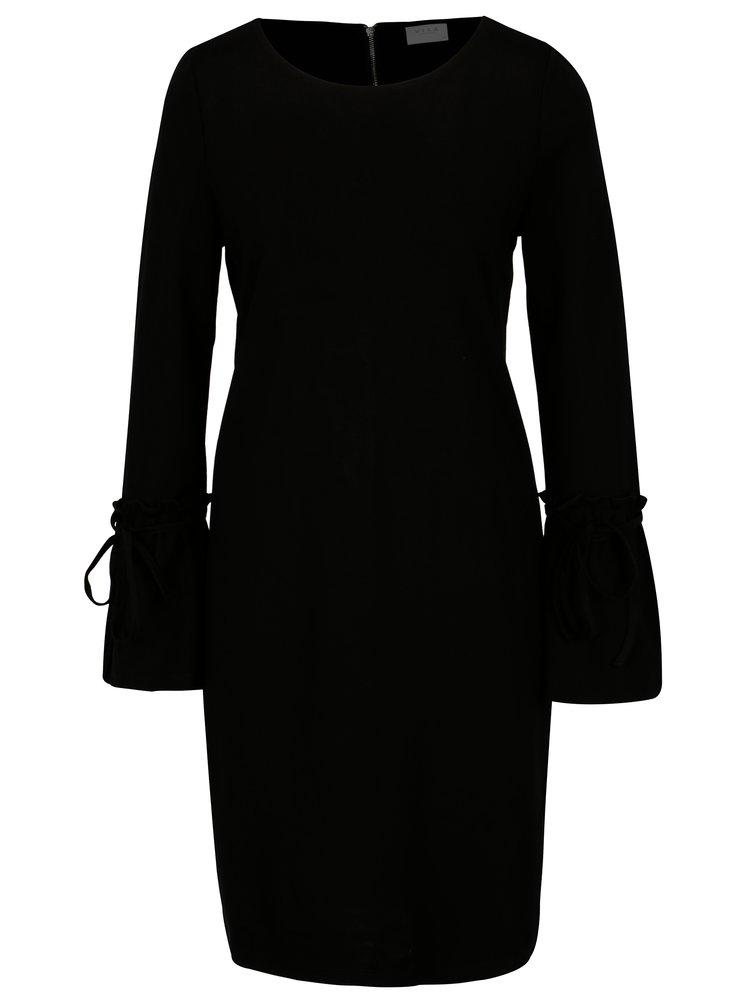 Rochie neagra cu mansete ample si fermoar VILA Bekky