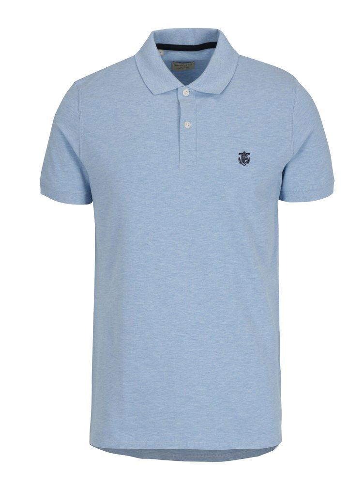 Světle modré žíhané polo tričko Selected Homme Haro