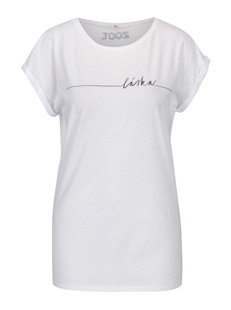 Biele dámske tričko s potlačou ZOOT Original Láska