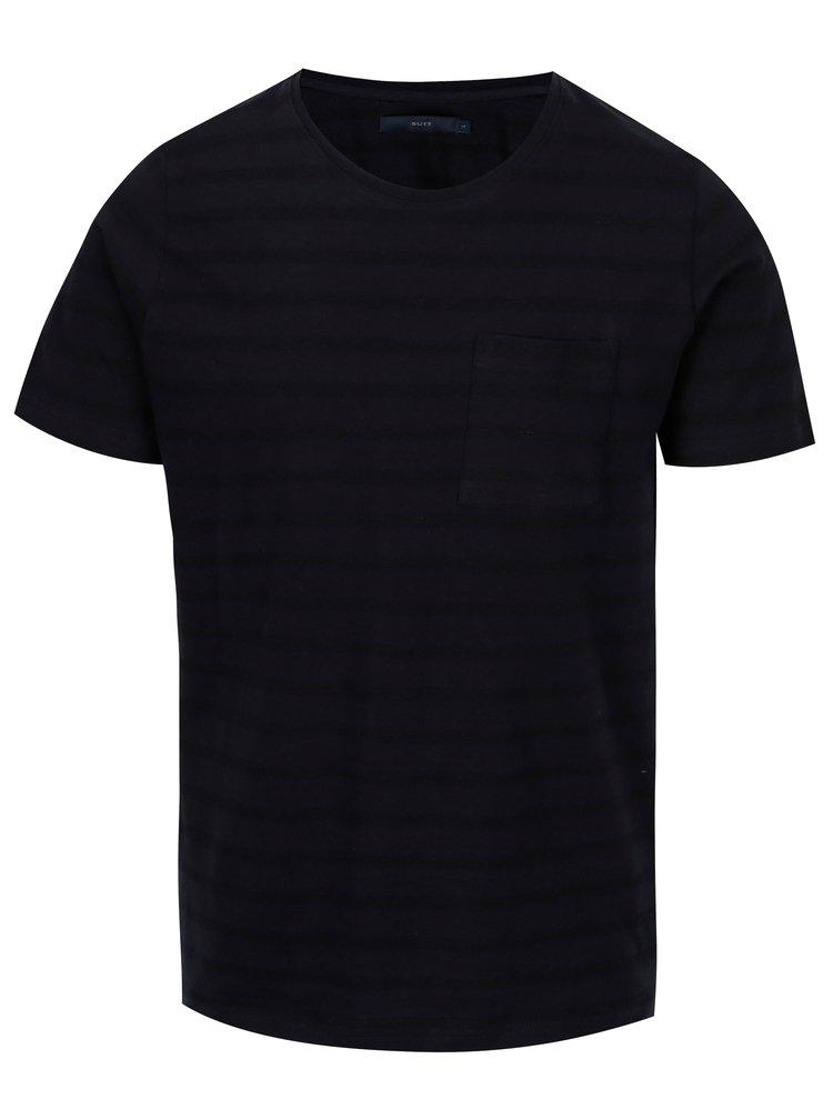 Tmavě modré basic tričko s náprsní kapsou SUIT Nimbus
