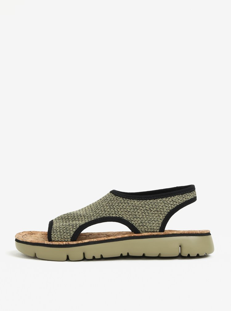 Zelené dámské žíhané sandály Camper Oruga
