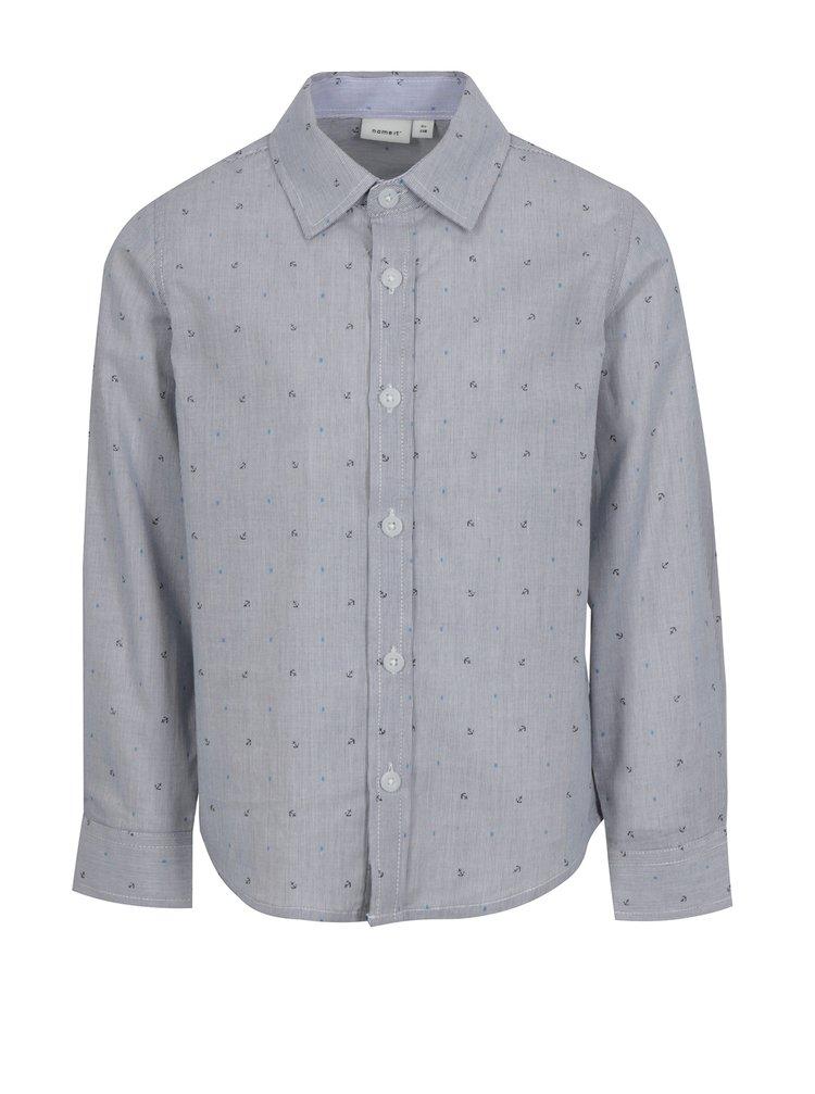 Tmavě modrá klučičí vzorovaná košile name it Mias