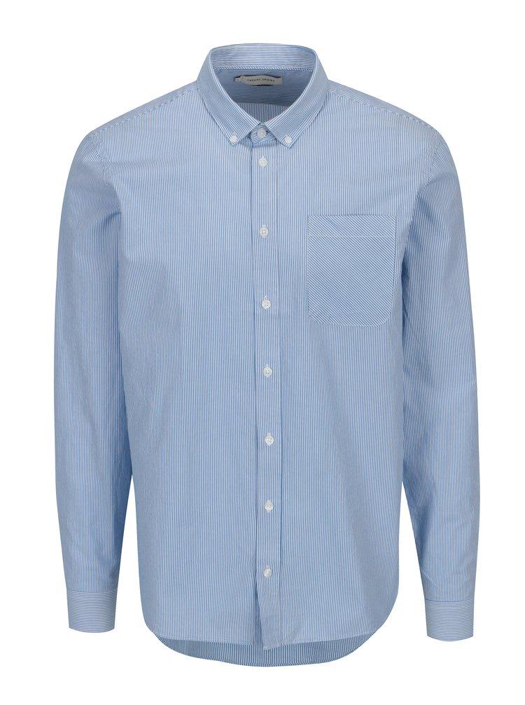Bílo-modrá pruhovaná slim fit košile Casual Friday by Blend