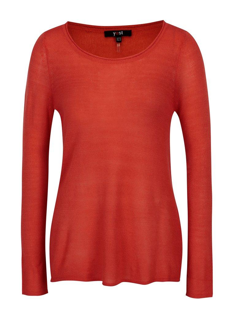 Červený lehký svetr Yest