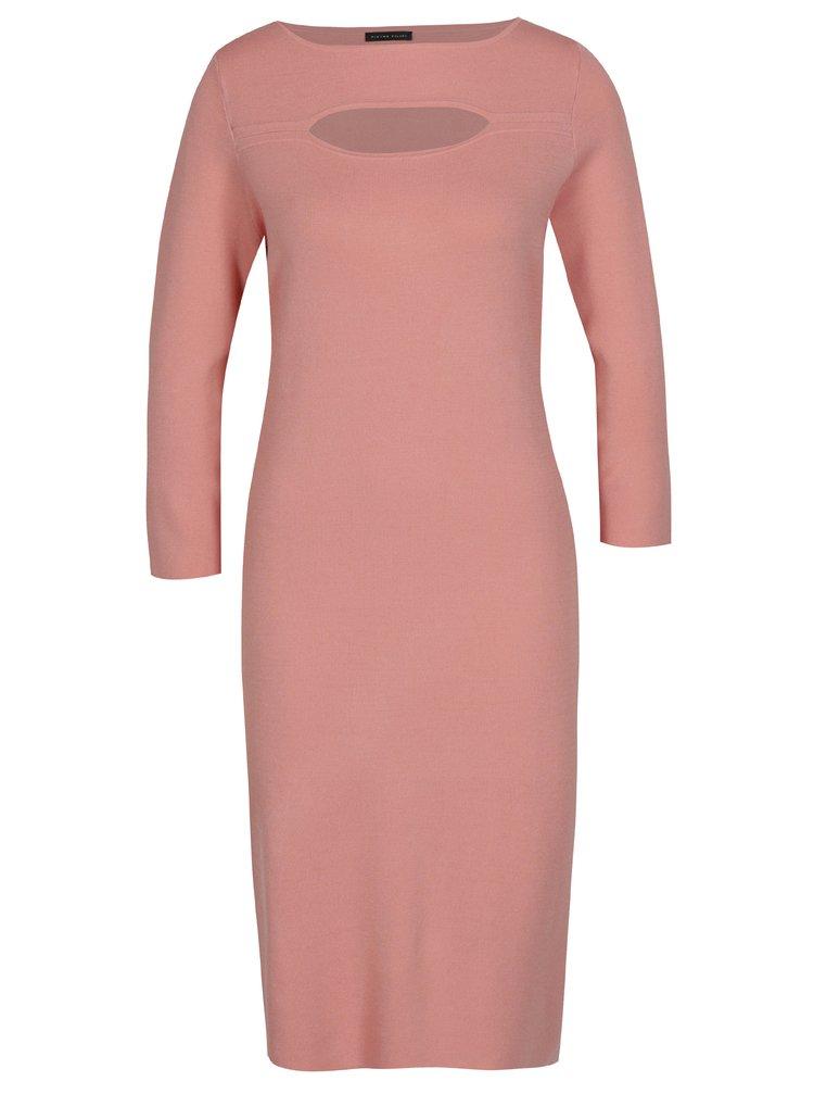 f8f17f9d69ad ... Růžové dámské šaty s 3 4 rukávem Pietro Filipi