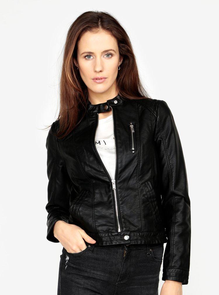 Jacheta neagra din piele sintetica  VERO MODA California