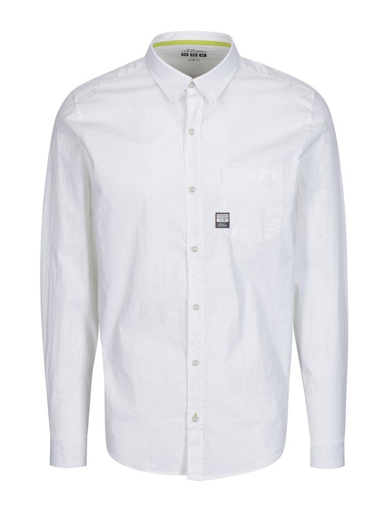 Bílá pánská slim fit košile s.Oliver