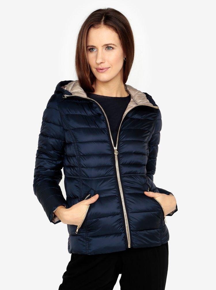 Tmavě modrá dámská prošívaná bunda s.Oliver