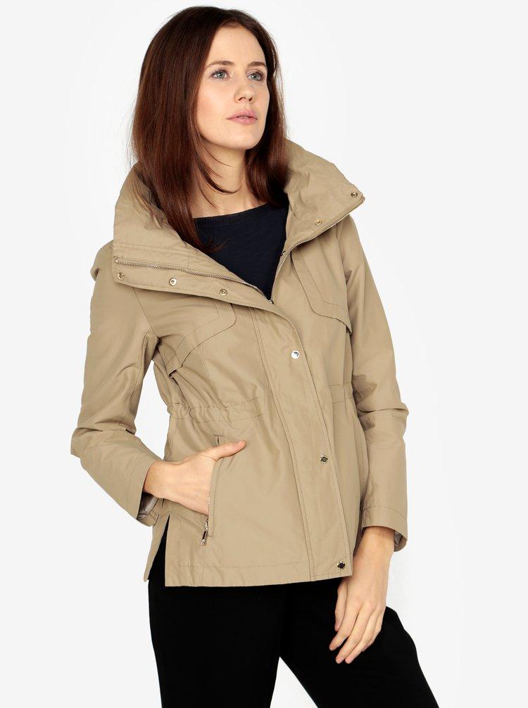 Oliver · Béžová dámska bunda so skrytou kapucňou s.Oliver a9abf30482a