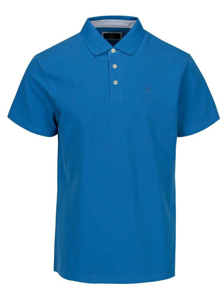 Modré slim fit polo tričko s výšivkou Hackett London Swim