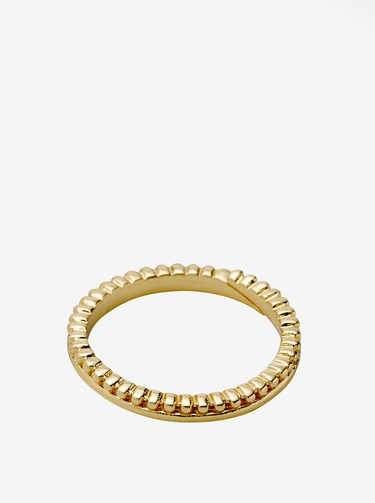 Pozlátený prstienok v zlatej farbe Pilgrim Kylie