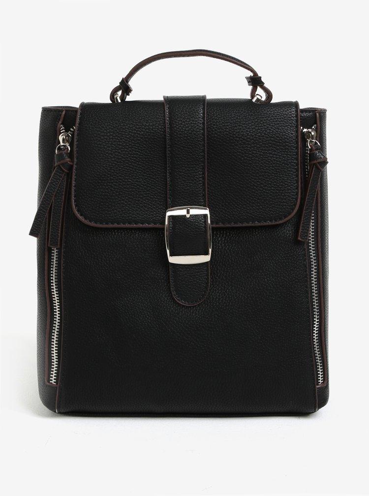 Černý batoh s ozdobnými zipy Bessie London