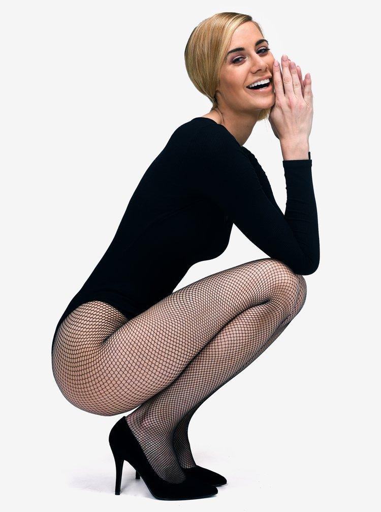 Černé síťované punčochové kalhoty Andrea Bucci Fishnet