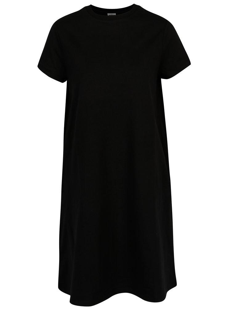 Rochie tricou neagra cu buzunare - Noisy May Lucky