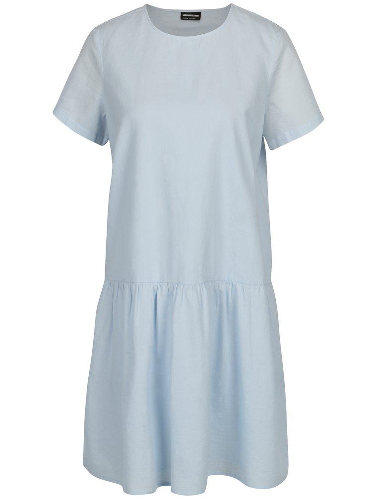Svetlomodré šaty s volánom Noisy May Republique