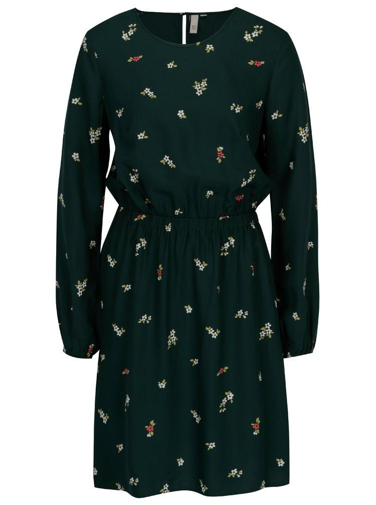 Zelené květované šaty s.Oliver