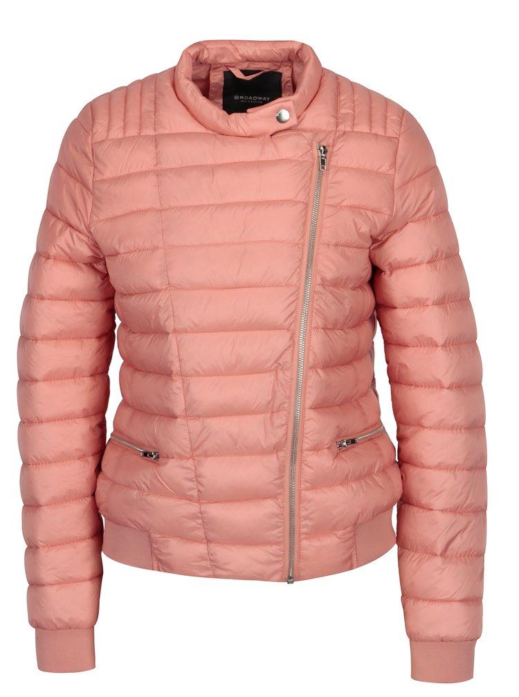 Růžová dámská prošívaná bunda Broadway Brionna