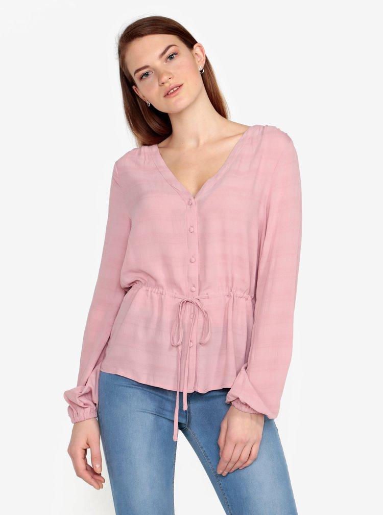 Bluza roz cu model fin - VERO MODA Sophia