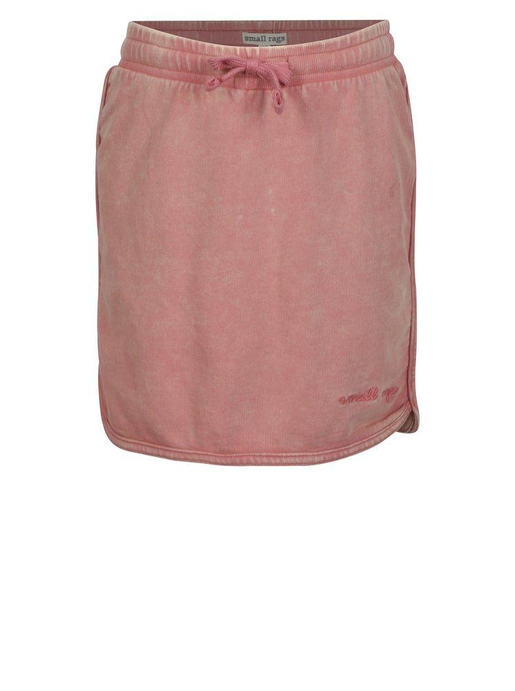 Růžová holčičí tepláková sukně small rags Gerda