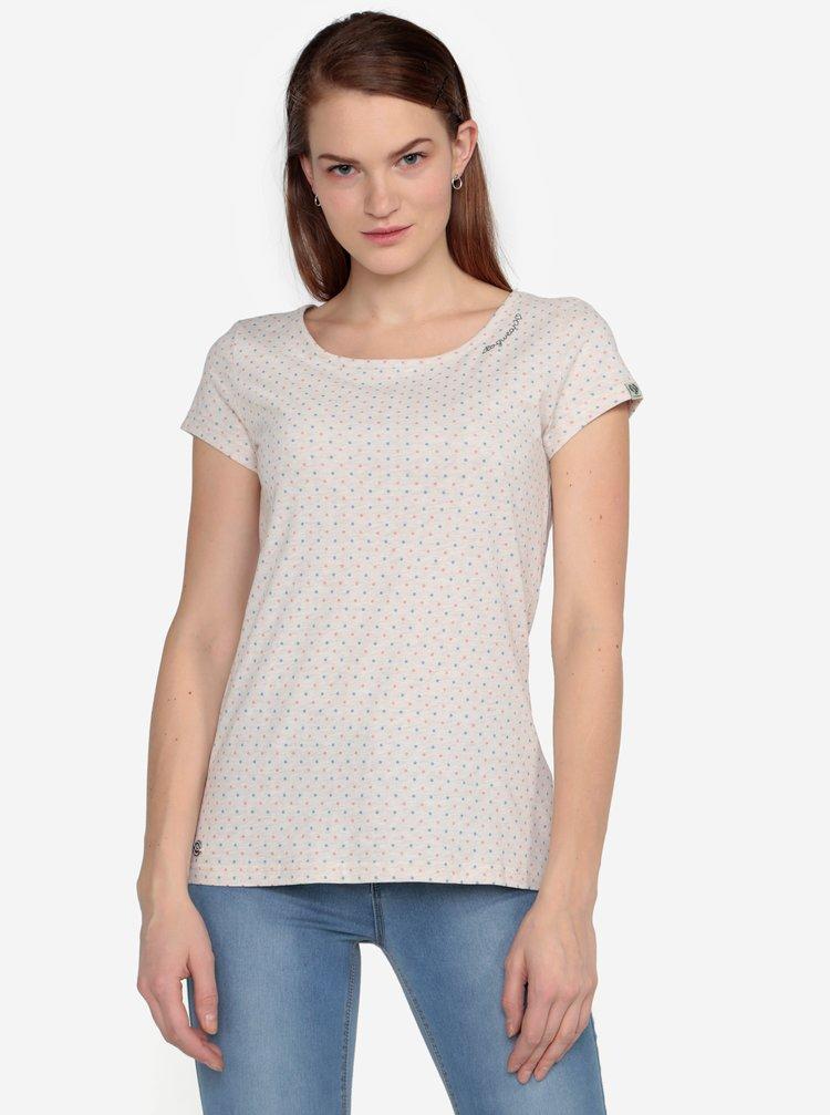 Béžové puntíkované žíhané tričko Ragwear Mint Dots