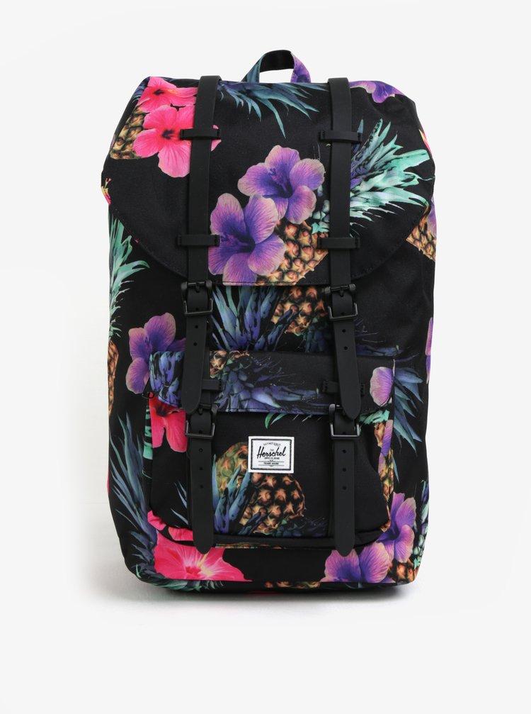 Růžovo-černý dámský vzorovaný batoh Herschel Little America 25 l