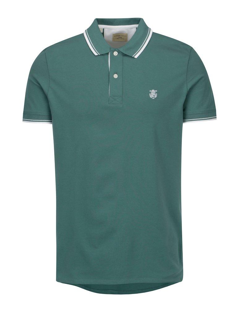 Zelené polo tričko s výšivkou Selected Homme Newseason